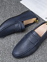 cheap -Men's Loafers & Slip-Ons Comfort Shoes Driving Shoes Business Classic Party & Evening Office & Career Faux Leather Waterproof Massage Non-slipping Blue Black Spring Summer / Square Toe