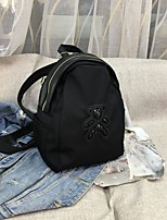 cheap -Women's Bags Oxford Cloth Cowhide Top Handle Bag Sequin Character Daily Outdoor Backpack Black