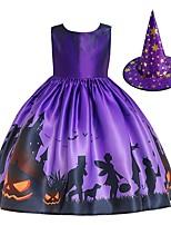 cheap -Pumpkin Dress Cosplay Costume Kid's Girls' Cute Halloween Festival Christmas Halloween Festival / Holiday Terylene Elastane Purple Easy Carnival Costumes Pumpkin / Hat