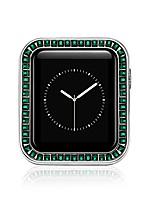cheap -Smart watch Case  compatible with apple watch case 40mm iwatch diamond protective brilliant cover zinc alloy bumper gorgeous large diamonds frame compatible with apple watch series 6/se/5/4 (40mm)