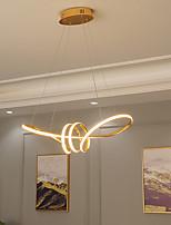 cheap -LED Pendant Light Kitchen Island Light Gold Chrome Modern 60cm 80cm Geometric Shapes Flush Mount Lights Aluminum Painted Finishes 110-120V 220-240V