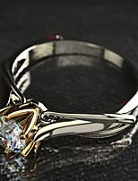 cheap -Ring 3D Silver Copper Rhinestone Silver Plated Precious Fashion 1pc 7 8 9 / Women's