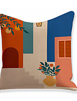 cheap -Contrast Color Double Side Cushion Cover 1PC Soft Throw Pillow Cover Cushion Case Pillowcase for Sofa Bedroom Livingroom Superior Quality Machine Washable  Outdoor Cushion for Sofa Couch Bed Chair