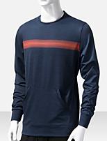 cheap -Men's T shirt Hiking Tee shirt Long Sleeve Tee Tshirt Top Outdoor Quick Dry Lightweight Breathable Sweat wicking Autumn / Fall Spring Summer 2766 gray 2766 Claret 2766 Royal Blue Fishing Climbing