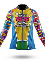 cheap -21Grams Women's Long Sleeve Cycling Jersey Summer Spandex Polyester Yellow Bike Jersey Top Mountain Bike MTB Road Bike Cycling Quick Dry Moisture Wicking Breathable Sports Clothing Apparel / Stretchy
