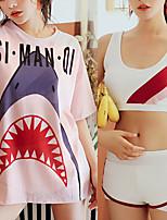 cheap -Women's Rashguard Swimsuit Swimwear UV Sun Protection UPF50+ Quick Dry Stretchy Short Sleeve 3-Piece - Swimming Surfing Snorkeling Summer