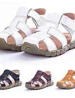 cheap -Unisex Sandals Bohemian Style Comfort Cowhide Big Kids(7years +) Daily Beach White Yellow Black Summer