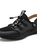 cheap -Men's Sandals Daily Walking Shoes Mesh Breathable Light Brown Dark Brown Black Spring Summer