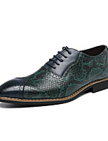 cheap -Men's Oxfords Formal Shoes Brogue Classic British Wedding Party & Evening Walking Shoes PU Non-slipping Purple Green Color Block Fall Spring