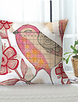 cheap -Vintage Pastoral Double Side Cushion Cover 1PC Soft Decorative Square Throw Pillow Cover Cushion Case Pillowcase for Sofa Bedroom Livingroom Outdoor Superior Quality Machine Washable Outdoor Cushion for Sofa Couch Bed Chair