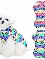 cheap -dog shirt puppy clothes, kudes 2 pack graffiti striped dogs cats t-shirt clothing basic vest outfits, spring summer pet apparel doggy tee tank top sleeveless for small medium boys girls dog