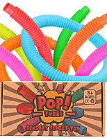 cheap -Pop Tubes Sensory Fidget Toy for Kids, Pull 'N Pop 6-Pack Educational STEM Toys for Construction and Building Activity, Helps Reduce Stress for Autism, ADHD and Children with Special Needs