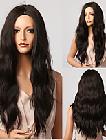 cheap -Synthetic Wig Wavy Loose Wave Middle Part Wig 26 inch Black / Gold Synthetic Hair 26 inch Women's Fashionable Design Soft Natural Black / Blonde