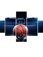 cheap -5 Panels Wall Art Poster Prints Painting Artwork Picture HD Self Adhere Sports Basketball Home Decoration Décor Rolled Canvas No Frame Unframed Unstretched