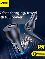 cheap -AWEI 30 W Output Power USB PD Charger Car USB Charger Socket Portable Charger For iPad Cellphone