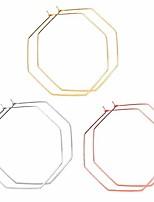 cheap -geometric hoop earrings thin rose gold octagon hoop earrings set dangle hoop stud