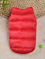 cheap -Dog Costume Jacket Solid Colored Leisure For Indoor and Outdoor Use Casual / Daily Outdoor Winter Dog Clothes Puppy Clothes Dog Outfits Warm Red Blue Costume for Girl and Boy Dog Polyester XS S M L