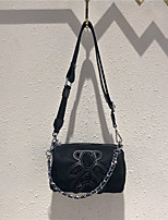 cheap -Women's Bags Oxford Cloth Cowhide Top Handle Bag Sequin Cartoon Going out Outdoor Sequins Chain Bag Black
