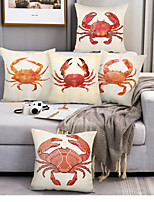 cheap -Ocean Crabs Double Side Cushion Cover 1PC Soft Decorative Square Throw Pillow Cover Cushion Case Pillowcase for Bedroom Livingroom Superior Quality Machine Washable Outdoor Cushion for Sofa Couch Bed Chair