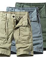 "cheap -Men's Hiking Shorts Hiking Cargo Shorts Drawstring Summer Outdoor 10"" Ripstop Quick Dry Multi Pockets Breathable Cotton Knee Length Bottoms Blue Grey Khaki Green Work Hunting Fishing 29 30 31 32 33"