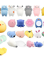 cheap -25PCS Cute Animal Toys Stress Relief Set Slow Rising Fidget Toys For Kids Adults Decompression Squeeze Toys