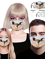 cheap -Face cover Filter Element Bandana Women's Men's Unisex Spandex Polyester One-Size Camel 1pc / pack Adults 3D Print Layered Anti-Fog Sports & Outdoor Daily Outdoor Streetwear All Seasons