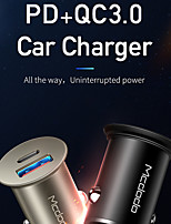 cheap -MCDODO 25 W Output Power USB Car Charger Car USB Charger Socket QC 3.0 Fast Charge For Cellphone