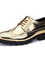 cheap -Men's Oxfords Formal Shoes Brogue Business Classic Wedding Party & Evening Patent Leather Non-slipping Wear Proof Gold Silver Fall Winter
