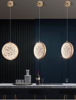 cheap -LED Pendant Light Kitchen Island Light Bedside Light Gold Modern Nordic 20 cm Round Aluminum Painted Finishes Bar Cafes Chandelier 110-240 V