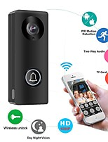 cheap -1080P Wireless WiFi Video Doorbell Door Phone Intercom Camera PIR Motion Detection Alarm Remote Unlock Security System