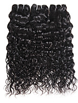 cheap -Ishow 3 Bundles Human Hair Weaves Brazilian Virgin Wig 3 Pieces Of Combination Outfit 100% Natural Water Wave Hair Curtain 8-28 Inch