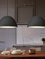 cheap -LED Pendant Light Kitchen Island Light Black Gray White 30 cm Modern Resin Pendant Light  Bowl Painted Finishes Artistic Lights Dining Room Kitchen Bedroom Living Room Light
