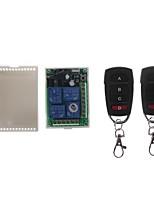 cheap -433MHz Universal Wireless Remote Control DC 12V 4CH Relay Receiver Module RF Switch 4 Button Remote Control Gate Garage opener