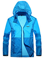 cheap -Men's Hoodie Jacket Hiking Skin Jacket Hiking Windbreaker Summer Outdoor UV Sun Protection Windproof Quick Dry Lightweight Outerwear Coat Top Hunting Fishing Climbing Blue Gray Army Green
