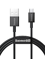 cheap -BASEUS Micro USB Cable High Speed 2 A 2.0m(6.5Ft) 1.0m(3Ft) TPE For Xiaomi Huawei Phone Accessory