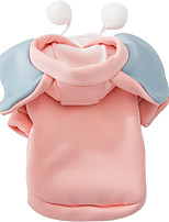 cheap -Dog Costume Dog clothes Solid Colored Leisure For Indoor and Outdoor Use Casual / Daily Outdoor Winter Dog Clothes Puppy Clothes Dog Outfits Warm Pink Costume for Girl and Boy Dog Polyester M L XL XXL