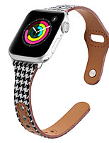 cheap -Smart Watch Band for Apple iWatch 1 pcs Business Band Genuine Leather Canvas Replacement  Wrist Strap for Apple Watch Series SE / 6/5/4/3/2/1