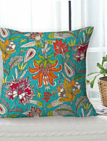 cheap -Vintage Floral Double Side Cushion Cover 1PC Soft Decorative Square Throw Pillow Cover Cushion Case Pillowcase for Bedroom Livingroom Superior Quality Machine Washable Outdoor Cushion for Sofa Couch Bed Chair