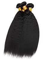 cheap -3 Bundles Hair Weaves Peruvian Hair Yaki Straight Human Hair Extensions Remy Human Hair Bundle Hair 8-28 inch