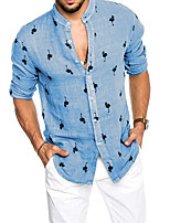 cheap -Men's Party / Evening Suits Mandarin Tailored Fit Single Breasted More-button Flamingo Polyester