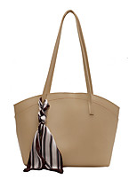 cheap -Women's Bags PU Leather Tote Date Office & Career 2021 Almond Black Light Green Beige