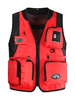 cheap -Men's Hiking Fishing Vest Work Vest Outdoor Casual Lightweight with Multi Pockets Summer Travel Cargo Safari Photo Vest Wear Resistance Breathable Waistcoat Jacket Coat Top