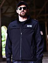 cheap -new ! shark skin softshell  tactical jacket men waterproof army fleece clothing hooded windbreakers