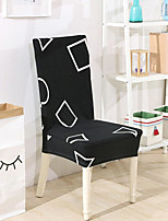 cheap -Stretch Kitchen Chair Cover Slipcover for Dinning Party Geometric Four Seasons Universal Super Soft Fabric Retro Hot Sale