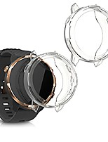 cheap -kwmobile 2x sport protective cover compatible with suunto 7 smartwatch - cover silicone clear without tracker transparent