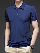 cheap -Men's T shirt Hiking Tee shirt Golf Shirt Short Sleeve Tee Tshirt Top Outdoor Quick Dry Lightweight Breathable Sweat wicking Autumn / Fall Spring Summer Sapphire Cymbidium White Fishing Climbing