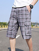 cheap -Men's Hiking Shorts Hiking Cargo Shorts Military Summer Outdoor Ripstop Quick Dry Multi Pockets Breathable Cotton Below Knee Shorts Bottoms Grey Khaki Burgundy Black Dark Blue Hunting Fishing Climbing