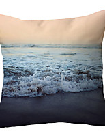 cheap -Beach Double Side Cushion Cover 1PC Soft Throw Pillow Cover Cushion Case Pillowcase for Sofa Bedroom Livingroom Superior Quality Machine Washable  Outdoor Cushion for Sofa Couch Bed Chair