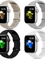 cheap -4 pack sport silicone bands compatible with apple watch bands 38mm 40mm women men, soft replacement strap band compatible for iwatch series 6 se 5 4 3 2 1(38mm/40mm,black+white+gray+stone)