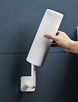 cheap -2-Piece Wall-mounted Shelves Kitchen Toilets Punch-free Rolling Reel Cling Film Paper Towel Hanger Paper Shelves Set